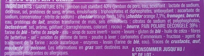 Giga jambon cheddar sur pain polaire - Ingredients