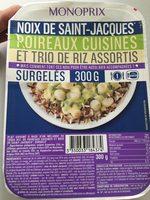 Noix de saint-Jacques poireaux cuisinés et trio de riz assortis - Product