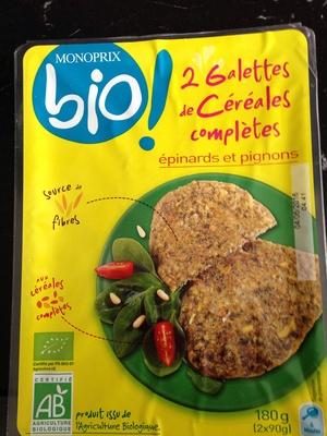 Monoprix galettes de céréales complètes épinards et pignons - Product - fr