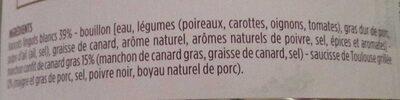 Cassoulet de Castelnaudary au confit de canard - Ingrediënten