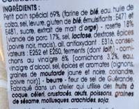 Le Pavé Rosette Cornichons - Ingrédients - fr