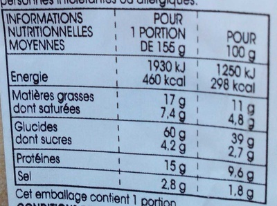 Le Pavé Rosette Cornichons - Informations nutritionnelles - fr