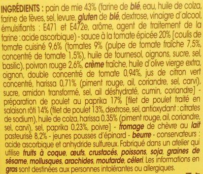 Le Délicieux Poulet rôti Chèvre Paprika - Ingrédients