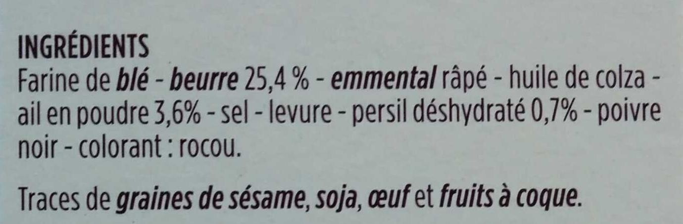 Feuilletés en escargot à la persillade - Ingrédients