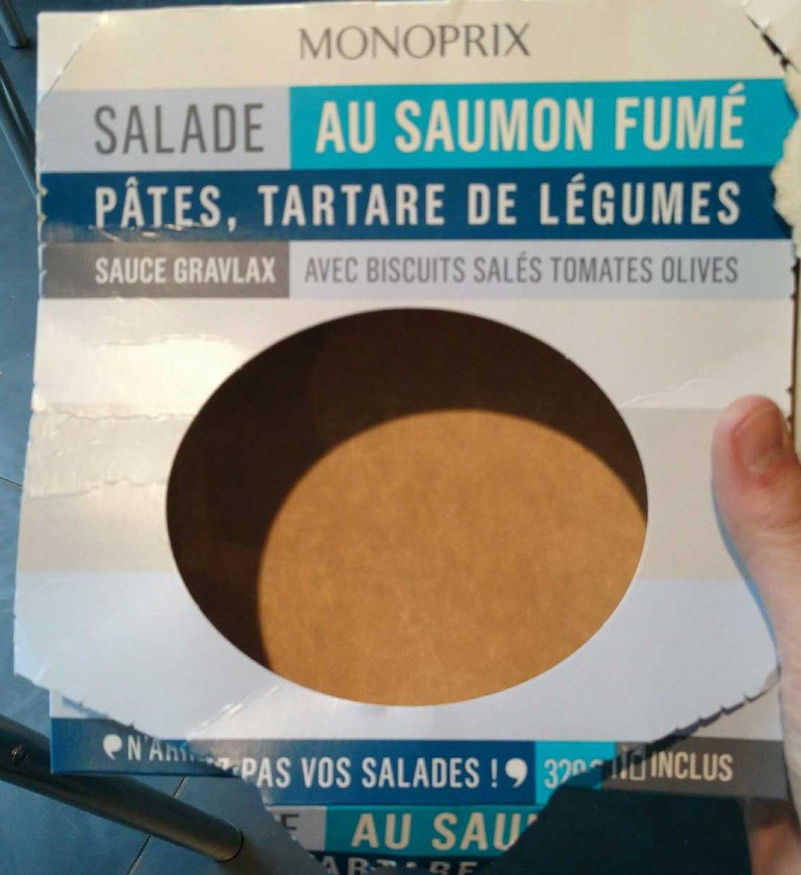 Salade au Saumon Fumé, Pâtes, Tartare de Légumes - Product - fr