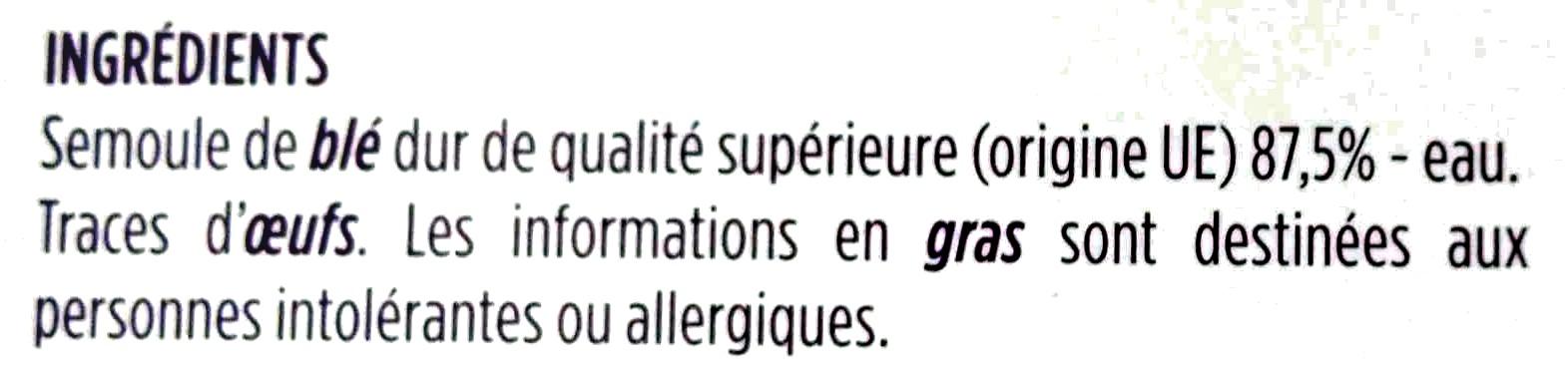 Linguine extrudées au bronze - Ingrediënten - fr