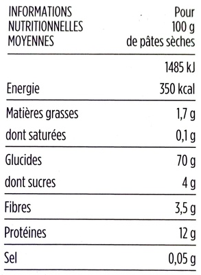 Linguine extrudées au bronze - Voedingswaarden - fr