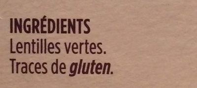 Lentilles vertes du Berry - Ingrediënten - fr