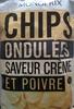 Chips ondulées saveur crème et poivre - Produit