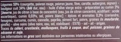 Poêlée de Boulgour à la Marocaine - Ingrédients - fr