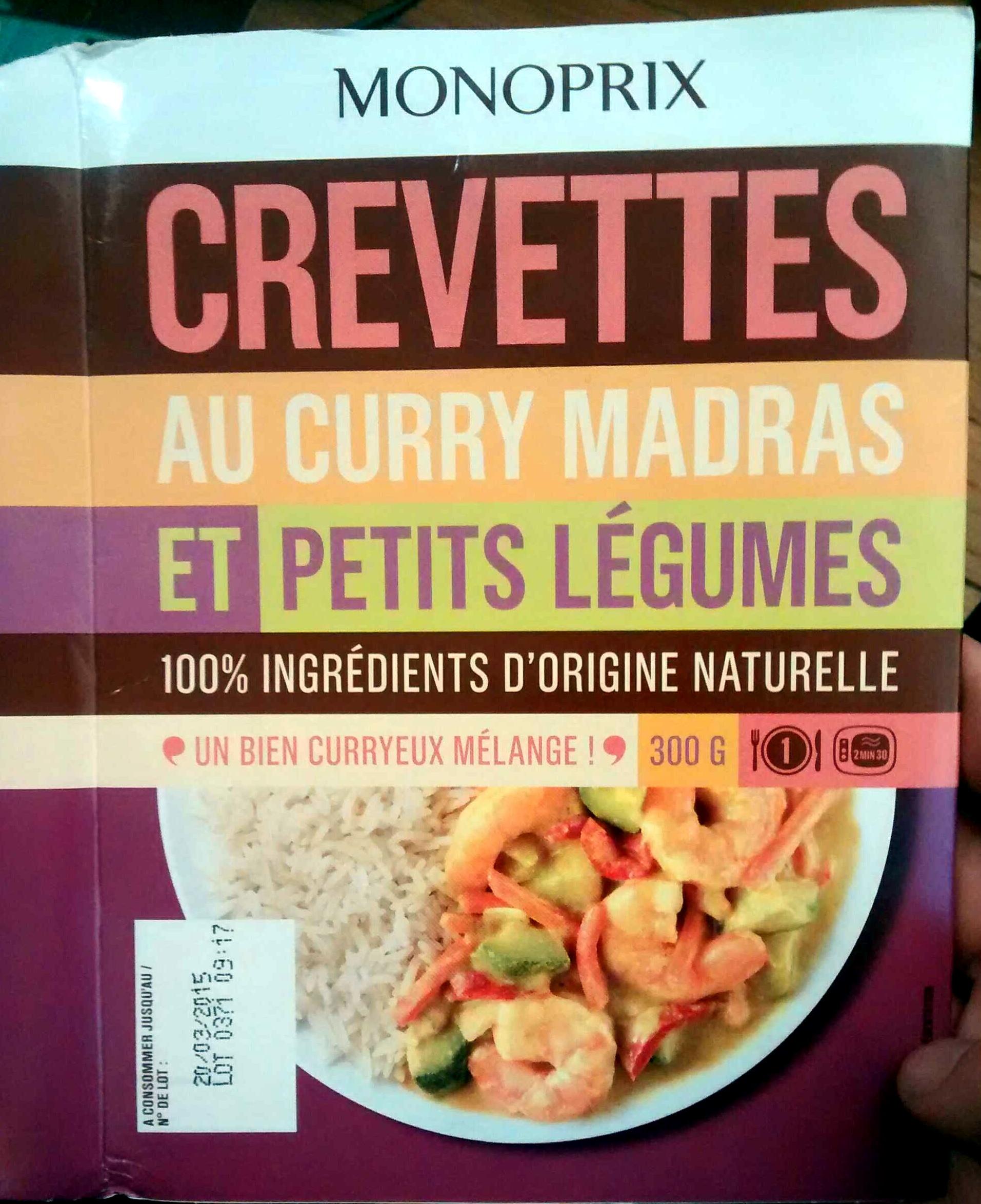 Crevettes au curry madras et petits légumes - Produit