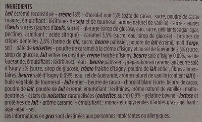 Le croustillant chocolat caramel - Ingrédients - fr