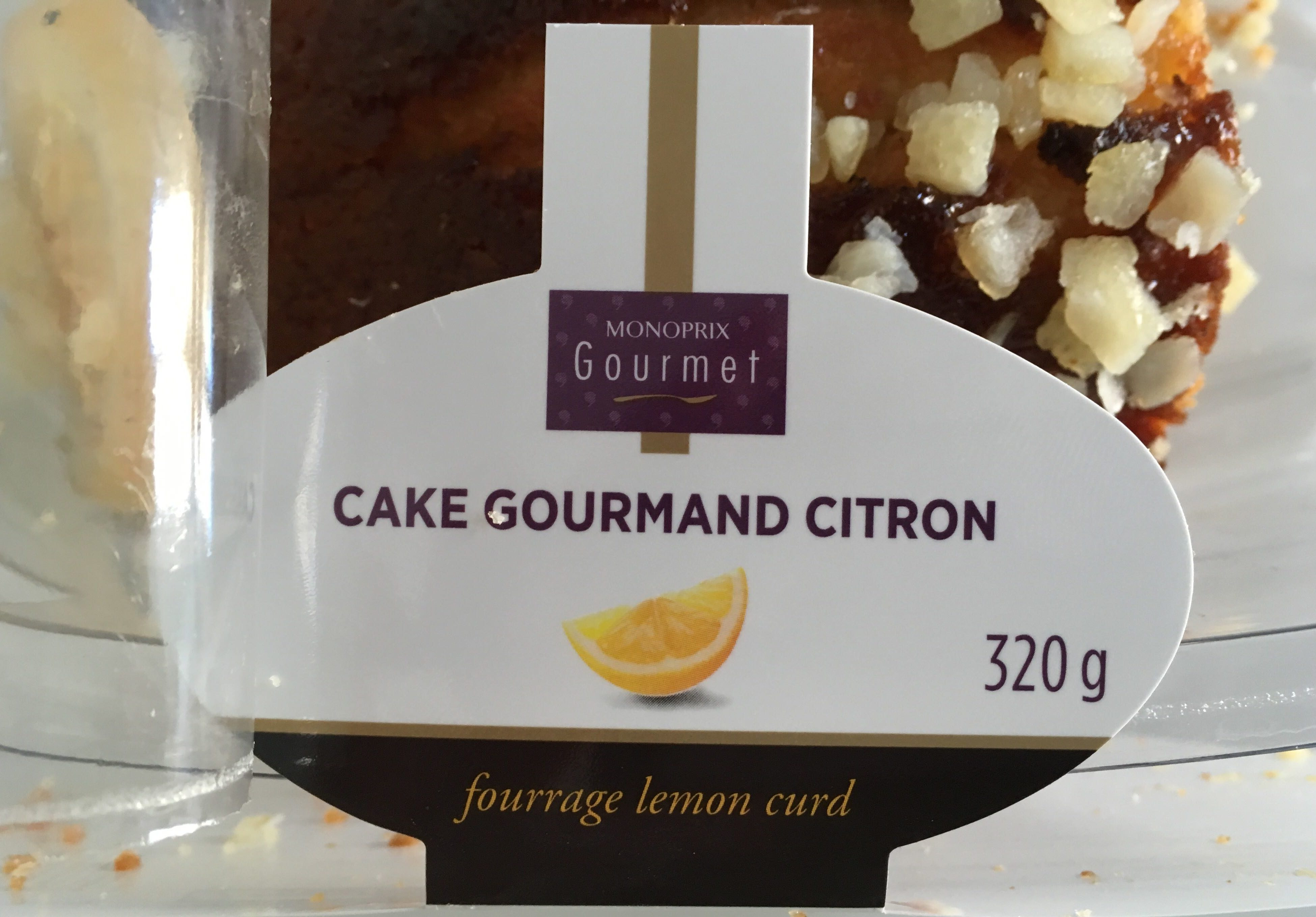Cake gourmand citron - Product - fr