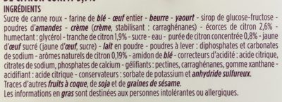 Cake gourmand citron - Ingrediënten