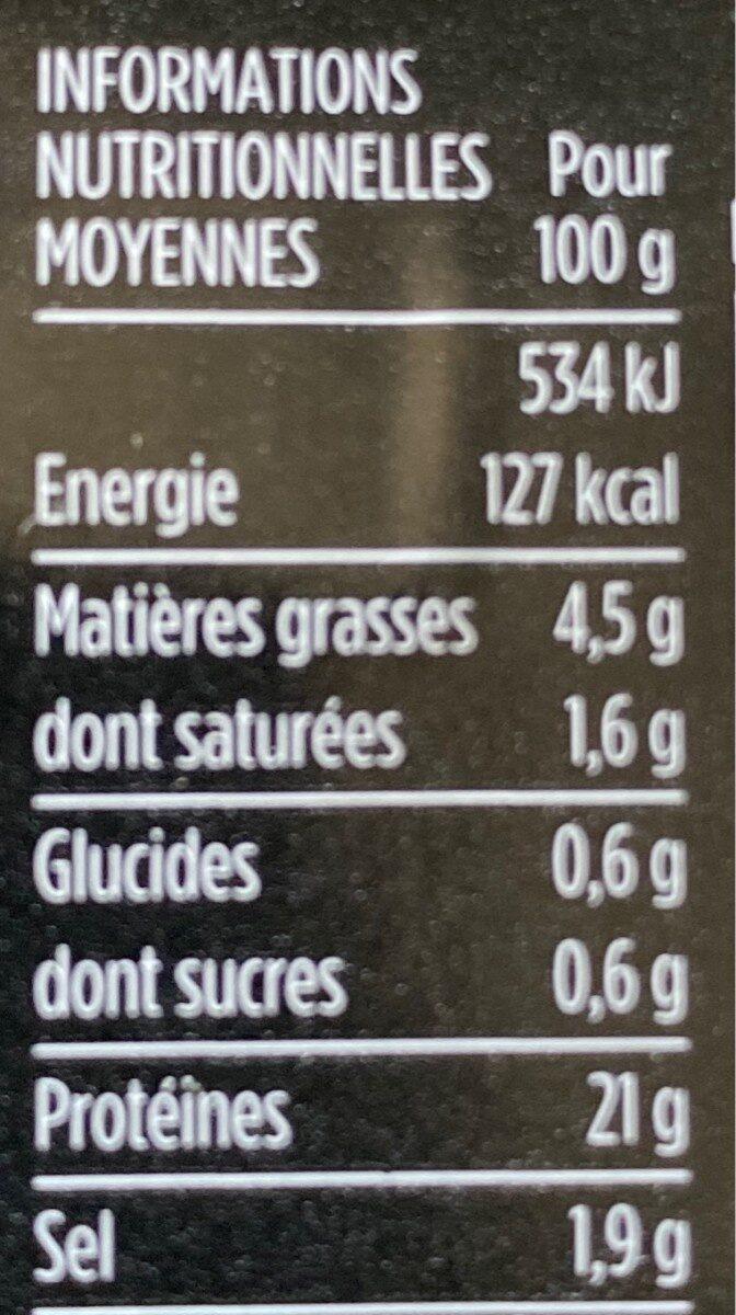 Jambon cuit supérieur, découenné et dégraissé, Viande de Porc Français - Nutrition facts - fr