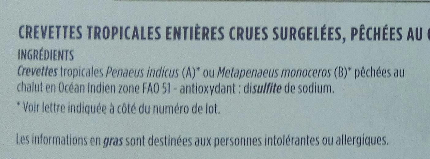 Crevettes sauvages de Madagascar - Ingredients