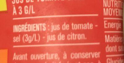 100% pur jus tomate - Ingrédients