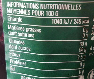 Confiture extra myrtilles - Valori nutrizionali - fr