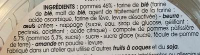 Tartelette Pomme - Ingredients - fr