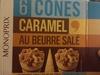 6 Cônes Caramel au Beurre Salé - Product