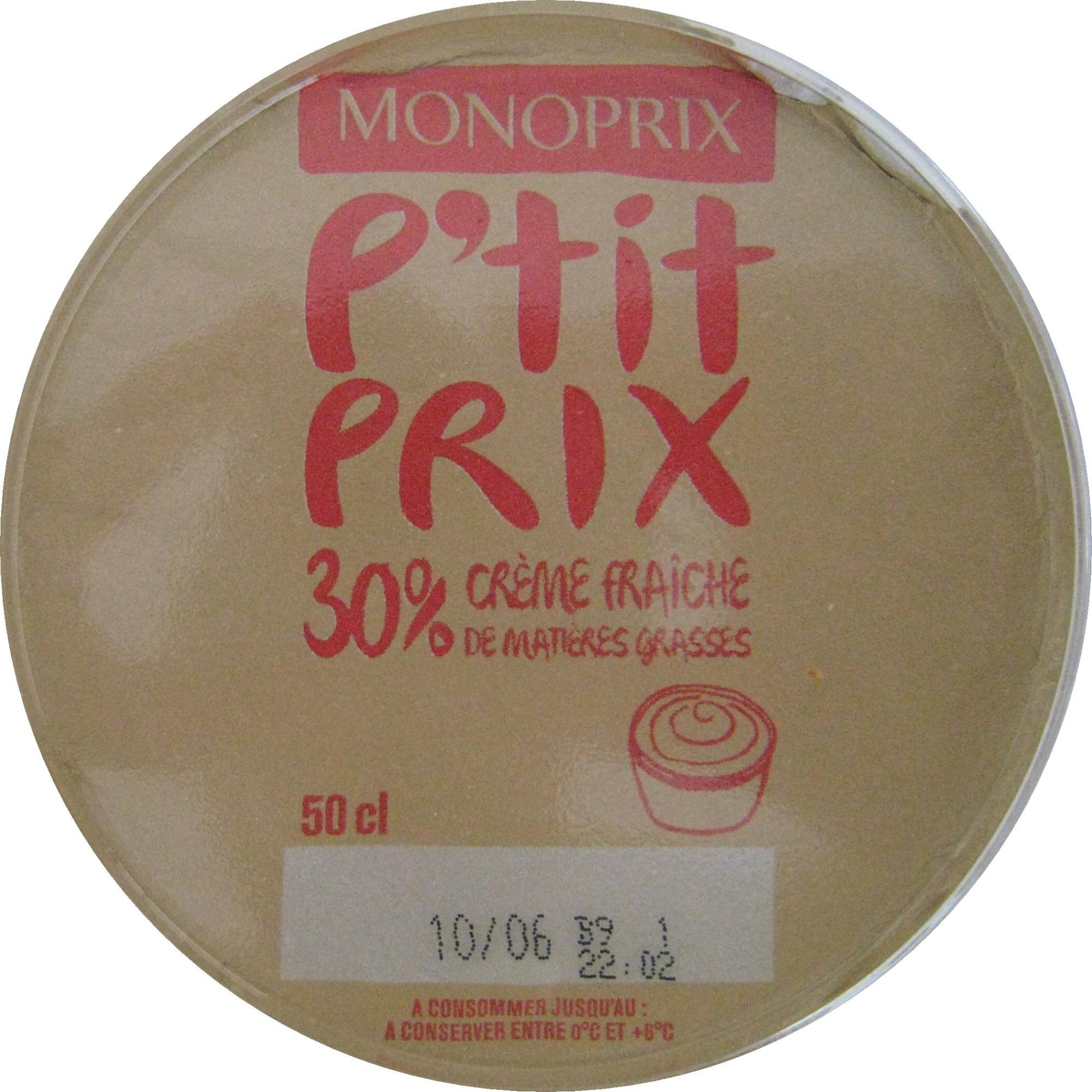 Crème fraîche (30 % MG) - Product - fr