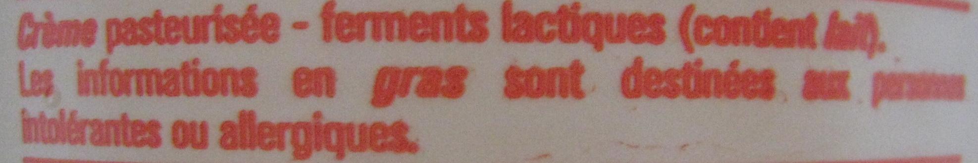 Crème fraîche (30 % MG) - Ingrediënten - fr