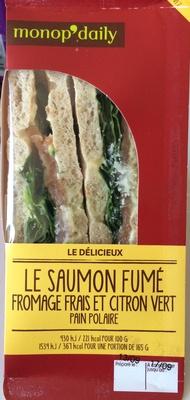 Le Saumon Fumé Fromage Frais et Citron Vert Pain Polaire - Product