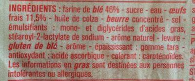 Brioche Tranchée aux Œufs Frais - Ingredients - fr