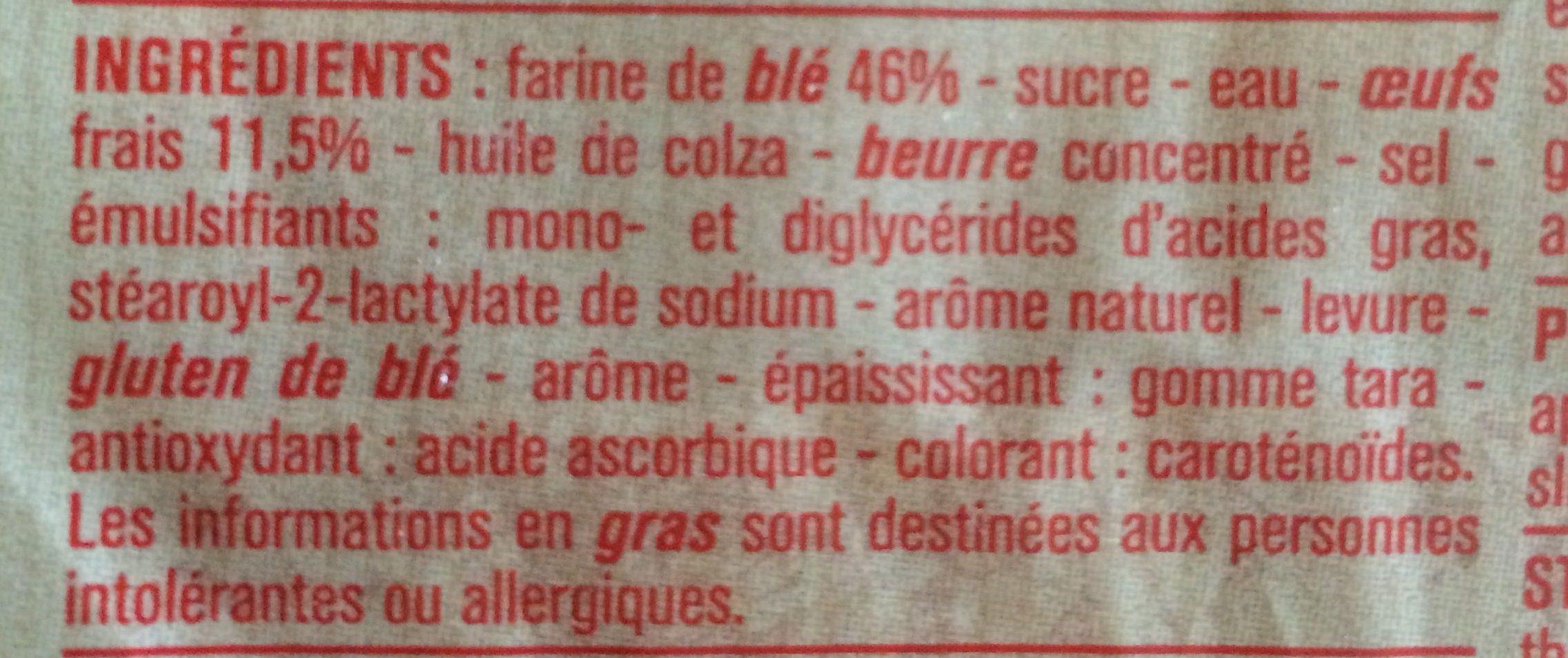 P'tit prix Brioche tranchée aux Œufs Frais - Ingredients - fr