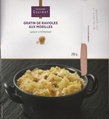 gratin de ravioles aux morilles monoprix gourmet 290 g. Black Bedroom Furniture Sets. Home Design Ideas