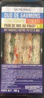 au Pavot Garni de Concombre, Tomate, Saumon Fumé et Saumon Cuit - Produit - fr