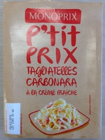Tagliatelles Carbonara à la crème fraîche - Product