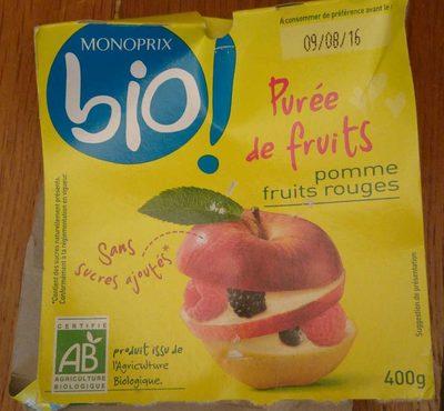 Compote en purée de fruits pomme et fruits rouges - Product - fr