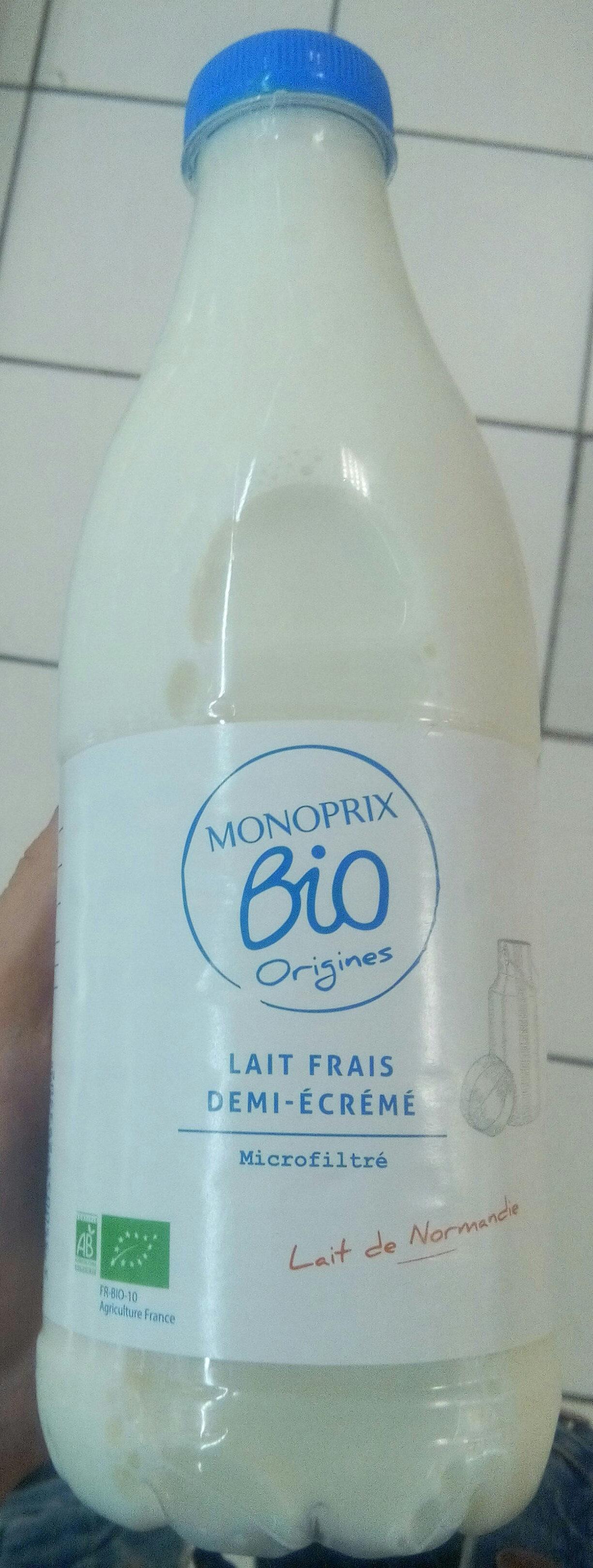 Lait Frais demi-écrémé microfiltré - Product