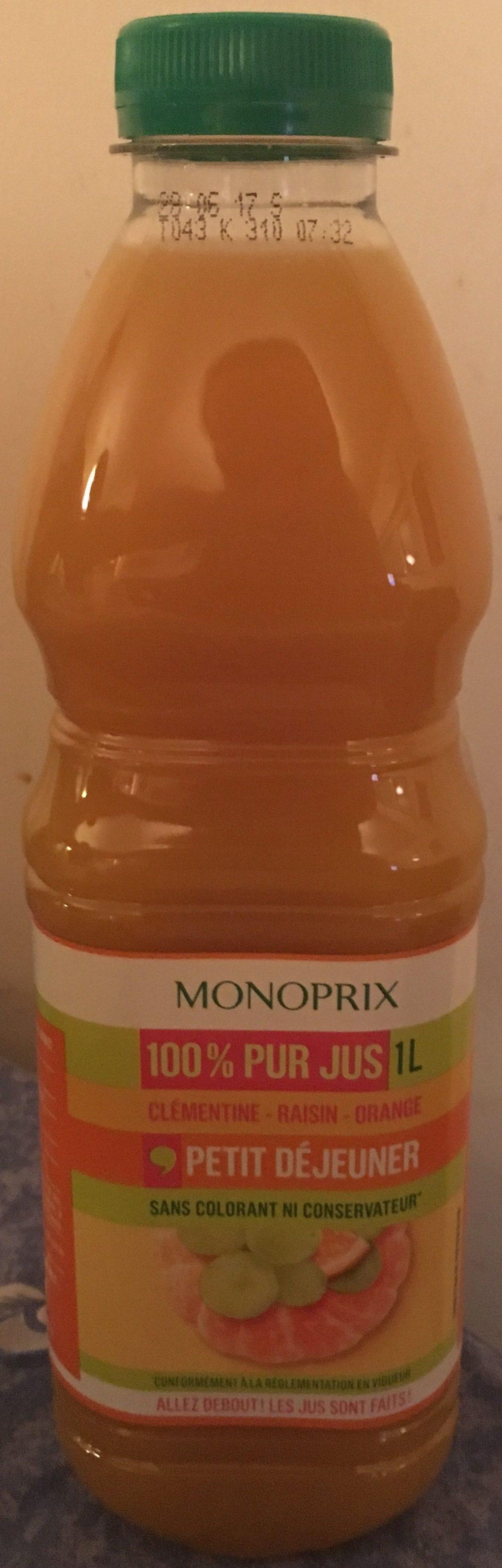 100% Pur jus Clémentine, Raisin et Orange - Product - fr