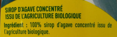 Sirop d'agave ambré bio - Ingrédients - fr
