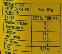 Sirop d'agave ambré bio - Informations nutritionnelles - fr