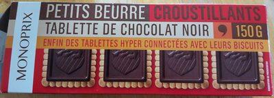 Petits beurre croustillants tablette de chocolat noir - 产品 - fr
