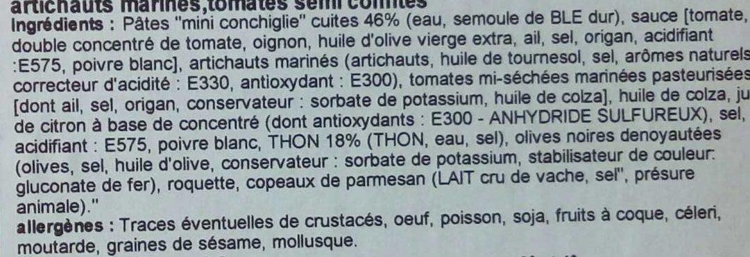 Mini conchiglie a l'italienne - Ingrédients - fr