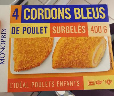 Cordons bleus de poulet surgelés - Product - fr