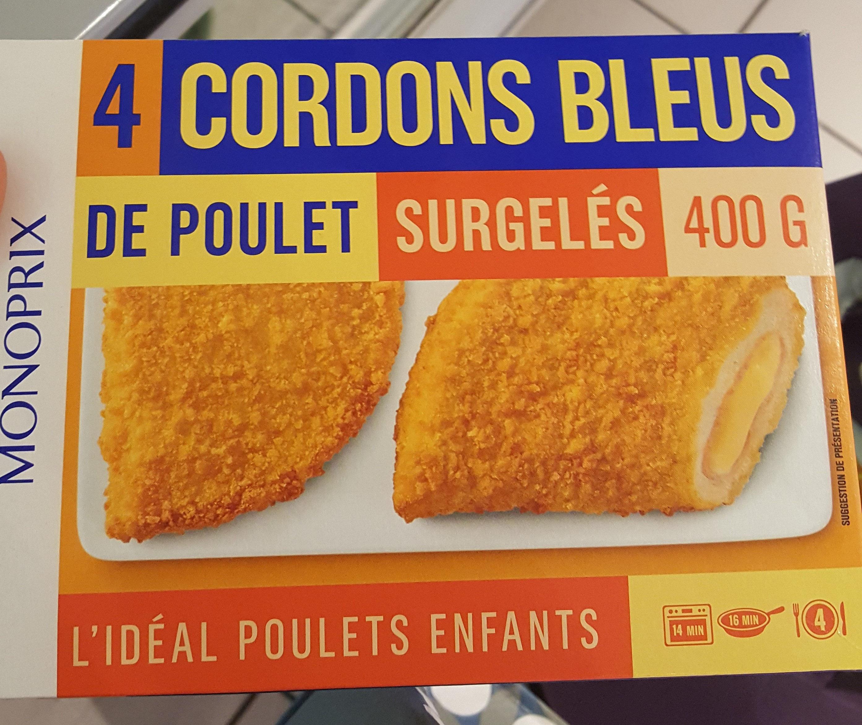 Cordons bleus de poulet surgelés - Produit