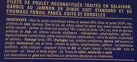 Cordons bleus de poulet surgelés - Ingrédients