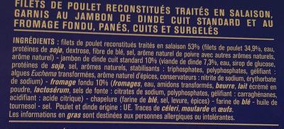 Cordons bleus de poulet surgelés - Ingredients - fr