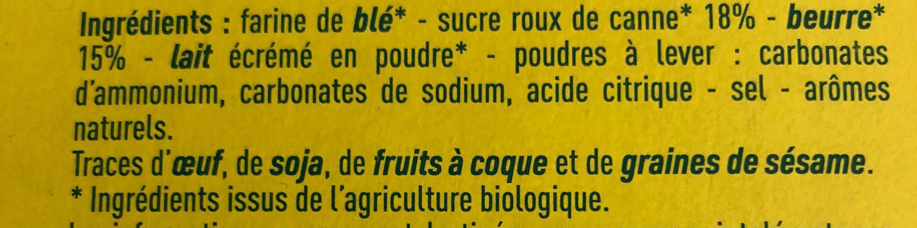 Petit beurre Monoprix bio - Ingrediënten