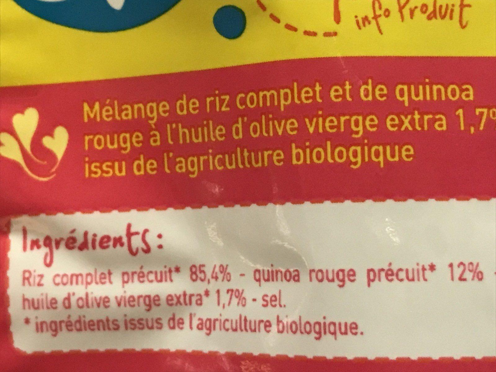 Riz complet & quinoa rouge bio - Ingredienti - fr