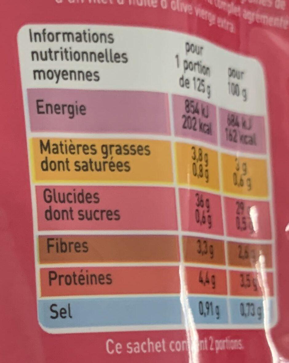 Riz complet & quinoa rouge bio - Valori nutrizionali - fr