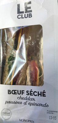 Le Boeuf Cheddar, Pousses d'Epinard pain de mie au blé malté - Produit - fr