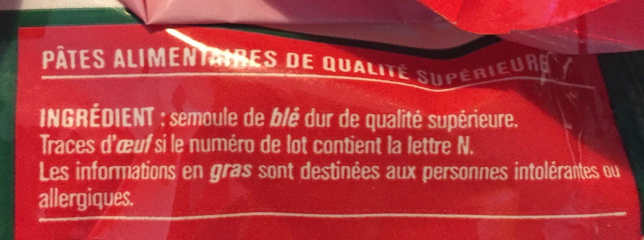 Macaroni de qualité supérieure - Ingrediënten - fr