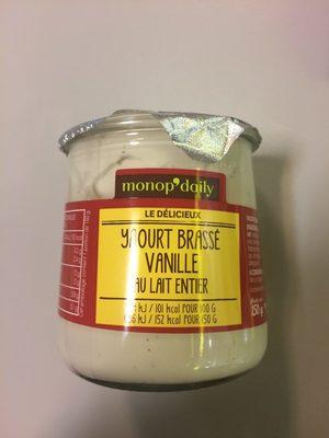 Yaourt brassé vanille - Product