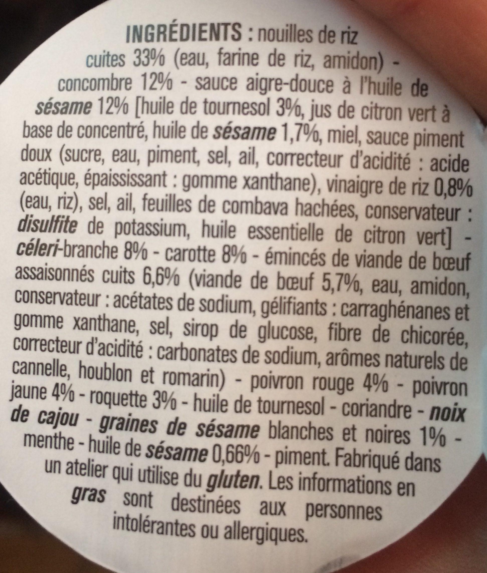 Grande Salade Façon Thaï - Ingrédients - fr